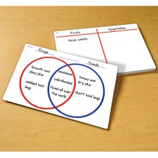 Write-on/Wipe-off Venn Diagram/T-chart Desk Mats, Set of 30