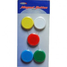 Button Magnets (Medium, Set of 5)